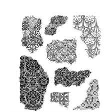 Tim Holtz Cling Rubber Stamp Set - Fragments