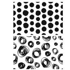 Tim Holtz Cling Rubber Stamp Set - Dots & Circles Backgrounds