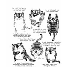 Tim Holtz Cling Rubber Stamp Set - Snarky Cat