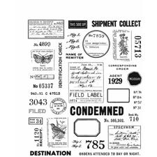 Tim Holtz Cling Rubber Stamp Set - Field Notes