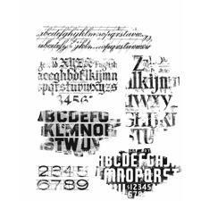 Tim Holtz Cling Rubber Stamp Set - Faded Type
