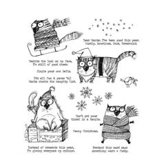 Tim Holtz Cling Rubber Stamp Set - Snarky Cat Christmas