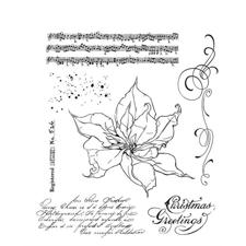 Tim Holtz Cling Rubber Stamp Set - The Poinsettia