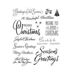 Tim Holtz Cling Rubber Stamp Set - Christmas Time