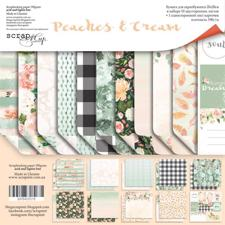 "ScrapMir Paper Pack 8x8"" - Peaches & Cream"