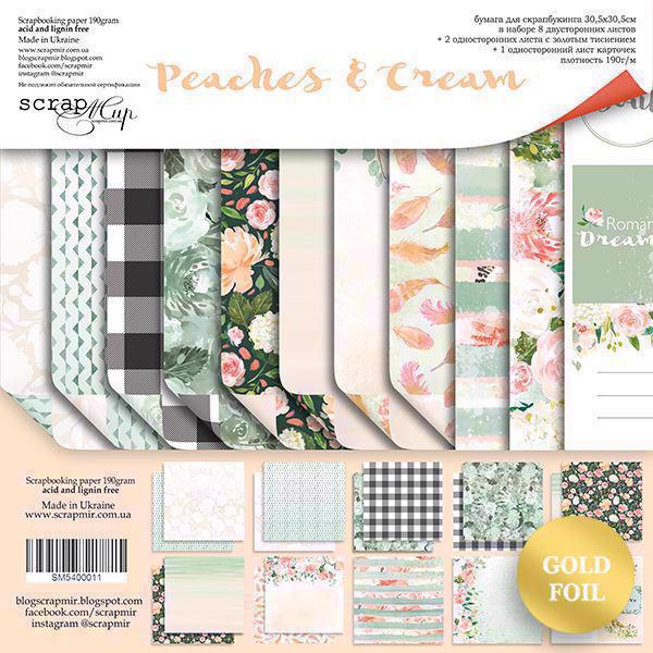 "ScrapMir Paper Pack 12x12"" - Peaches & Cream"