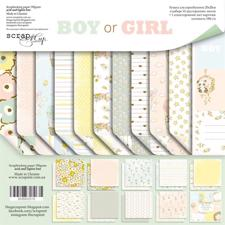 "ScrapMir Paper Pack 8x8"" - Boy or Girl"