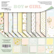 "ScrapMir Paper Pack 12x12"" - Boy or Girl"