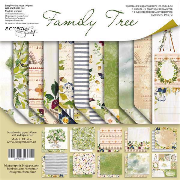 "ScrapMir Paper Pack 12x12"" - Family Tree"