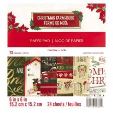 "Craft Smith 6x6"" Paper Pad - Christmas Farmhouse"