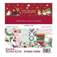 "Craft Smith 6x6"" Paper Pad - Happy Pawlidays"