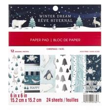 "Craft Smith 6x6"" Paper Pad - Winter Dream"