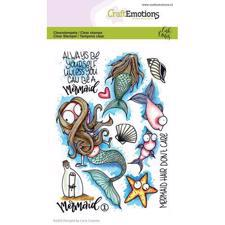 CraftEmotions Clear Stamp Set - Mermaid 1