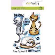 CraftEmotions Clear Stamp Set - Odey & Friends 2