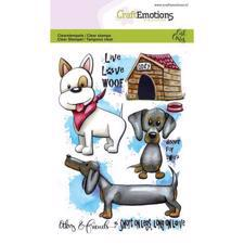 CraftEmotions Clear Stamp Set - Odey & Friends 3