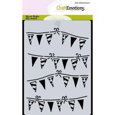 Craftemotions Mask Stencil - Garland Flags (A6)