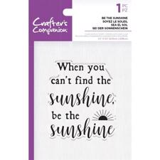 Crafters Companion Clear Stamp - Be the Sunshine