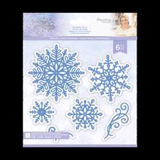 Crafters Companion Die - Glittering Snowflakes / Snowflake Flurry