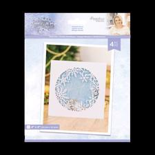 Crafters Companion Die - Glittering Snowflakes / Frosted Flurry (ring)