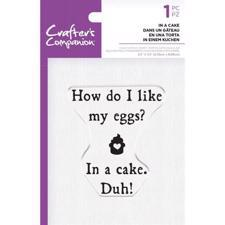 Crafters Companion Clear Stamp - In a Cake
