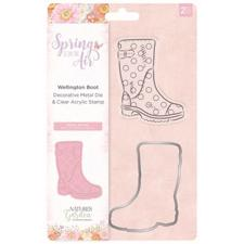 Crafters Companion Stamp & Die - Spring is in the Air / Wellington Boot