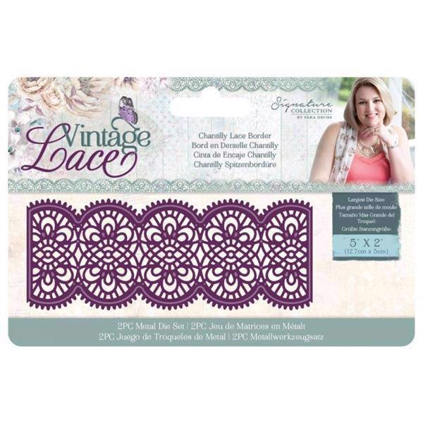 Crafters Companion Die - Vintage Lace / Chantilly Lace Border
