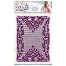 Crafters Companion Embossing Folder - Vintage Lace / Venetian Lace
