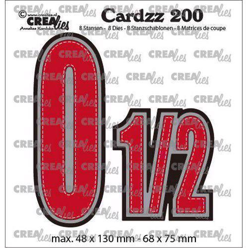 CREAlies Cardzz Die Set no. 200 - Numbers 0 og ½