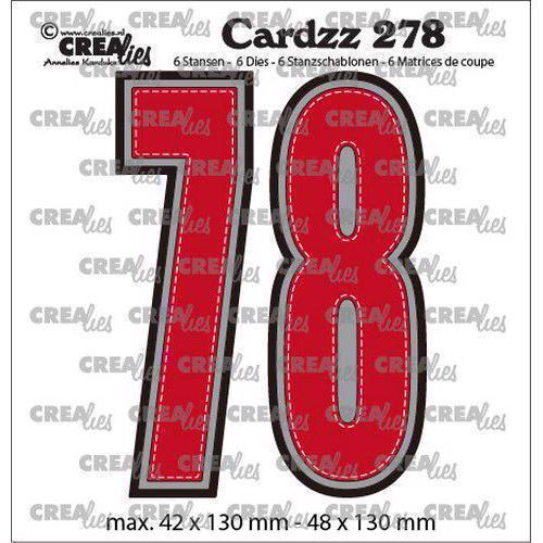 CREAlies Cardzz Die Set no. 278 - Numbers 7 og 8