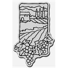 Stampendous Cling Stamp Scenes - Grape Scene