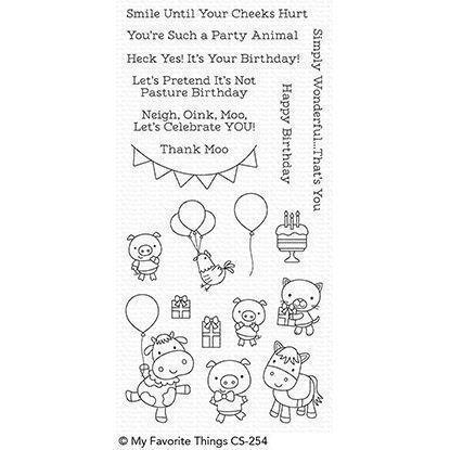 My Favourite Things Stamp Set - Party Animals