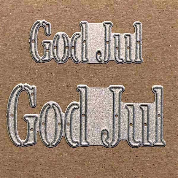 Gitte\'s egne DIE Designs - Cut-Out God Jul