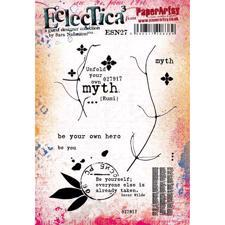 PaperArtsy A5 Cling Stamp - Sara Naumann No. 27 / Be your own hero