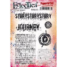 PaperArtsy A5 Cling Stamp - Seth Apter No. 13 / Story Story Story