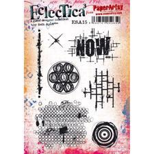 PaperArtsy A5 Cling Stamp - Seth Apter No. 15 / Now