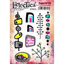 PaperArtsy A5 Cling Stamp - Tracy Scott No. 19 / Retro