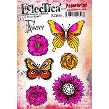 PaperArtsy A5 Cling Stamp - Tracy Scott No. 20 / Flowers Fly Away