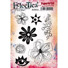 PaperArtsy A5 Cling Stamp - Tracy Scott No. 24 / Flowers & Eye