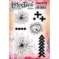 PaperArtsy A5 Cling Stamp - Tracy Scott No. 25 / Flowers +++