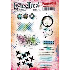 PaperArtsy A5 Cling Stamp - Tracy Scott No. 41 / Grunge Parts