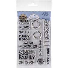 Elizabeth Crafts Planner Essentials - Clear Stamp / Retro Label Sayings