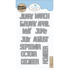 Elizabeth Crafts Planner Essentials - Die Set Months
