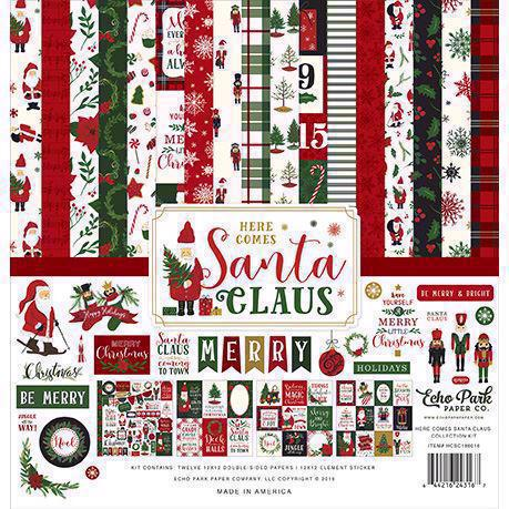 "Echo Park Paper Collection Pack 12x12"" - Here Comes Santa Claus"