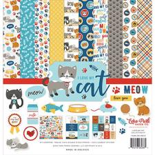 "Echo Park Paper Collection Pack 12x12"" - I Love my Cat"
