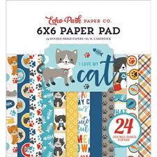 "Echo Park Paper Pad 6x6"" - I Love my Cat"