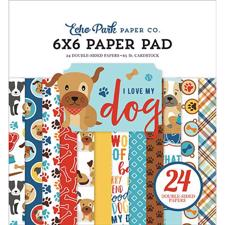 "Echo Park Paper Pad 6x6"" - I Love my Dog"