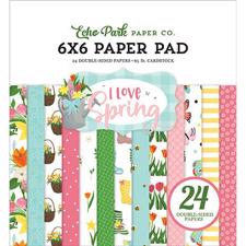 "Echo Park Paper Pad 6x6"" - I Love Spring"