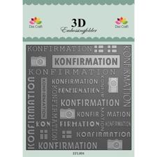 Dixi Craft 3D Embossing Folder - Konfirmation