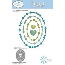 Elizabeth Crafts Die - Beaded Oval Frame