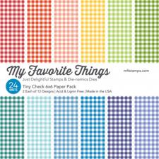 "My Favorite Things Paper Pad 6x6"" - Tiny Check"